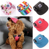 Dog Hat, Pet Baseball Cap/Dogs Sport Hat/Visor Cap with Ear Holes and Chin Strap