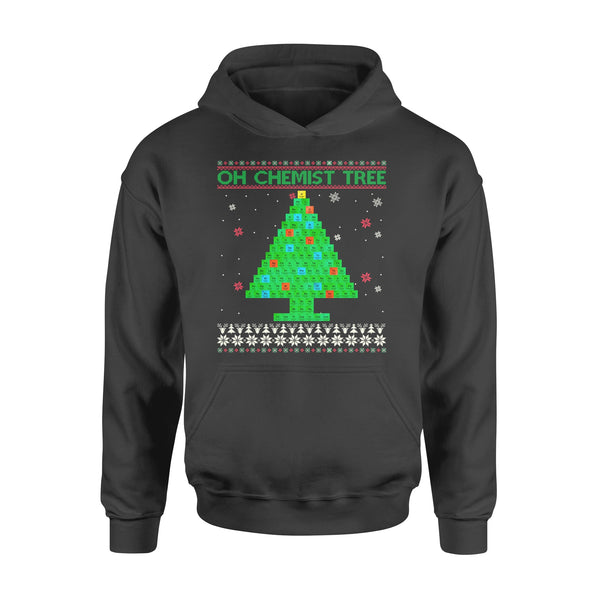 Teerich Oh Chemist Tree Funny Christmas Chemistry Gifts Scientist Santa's Christmas Shirts & Weihnachtsgeschenke - Standard Hoodie