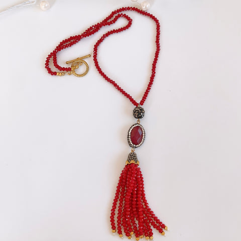Jia Tassel Necklace