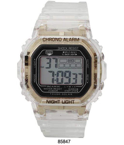 M Milano Expressions Smokey Transparent LCD Watch with Transparent - B&P'sringsnthings
