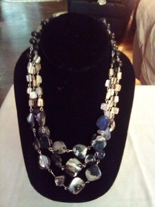 3 tier beautiful stone necklace - B&P'sringsnthings