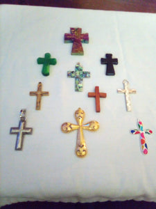 A beautiful assortment of cross pendents - B&P'sringsnthings