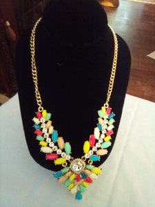 A beautiful multi colored dressy necklace - B&P'sringsnthings