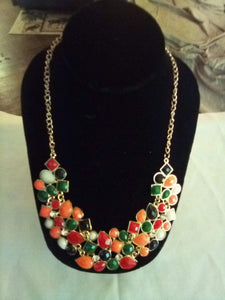 A beautiful multi colored dressy necklace. - B&P'sringsnthings