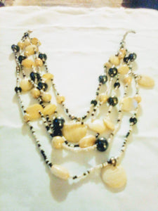 A black and white dressy multi tier necklace - B&P'sringsnthings