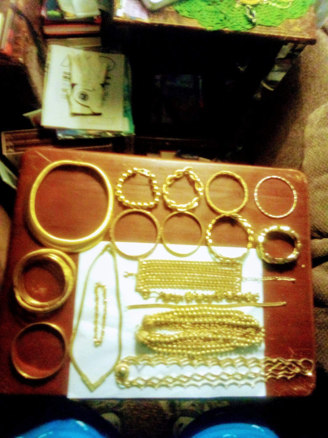 A large lot of gold tone jewelry - B&P'sringsnthings