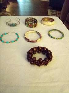 A lot of dressy bracelets - B&P'sringsnthings