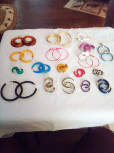 A pierced round assorted colored earring lot - B&P'sringsnthings