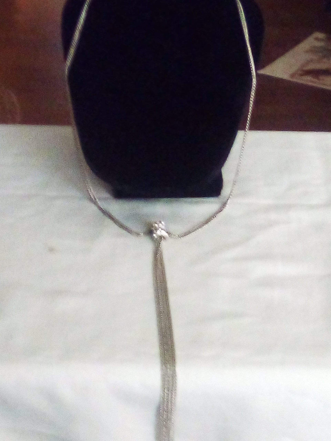 A silver tone dressy necklace - B&P'sringsnthings