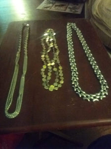 A silver tone necklace lot - B&P'sringsnthings