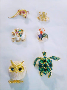 A wild life pin lot - B&P'sringsnthings