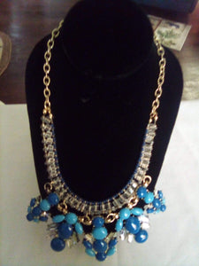 Beautiful dressy stone and crystal decorated necklace - B&P'sringsnthings