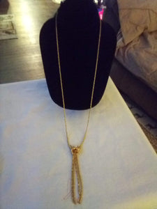 Beautiful gold tone long chained necklace - B&P'sringsnthings