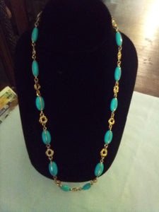 Beautiful light blue dressy necklace - B&P'sringsnthings