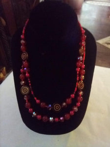 Beautiful red dressy necklace - B&P'sringsnthings
