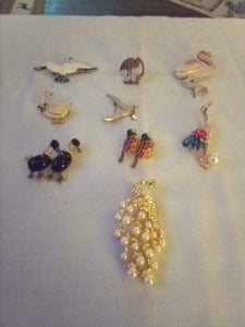 Bird lot of broaches and pendents - B&P'sringsnthings