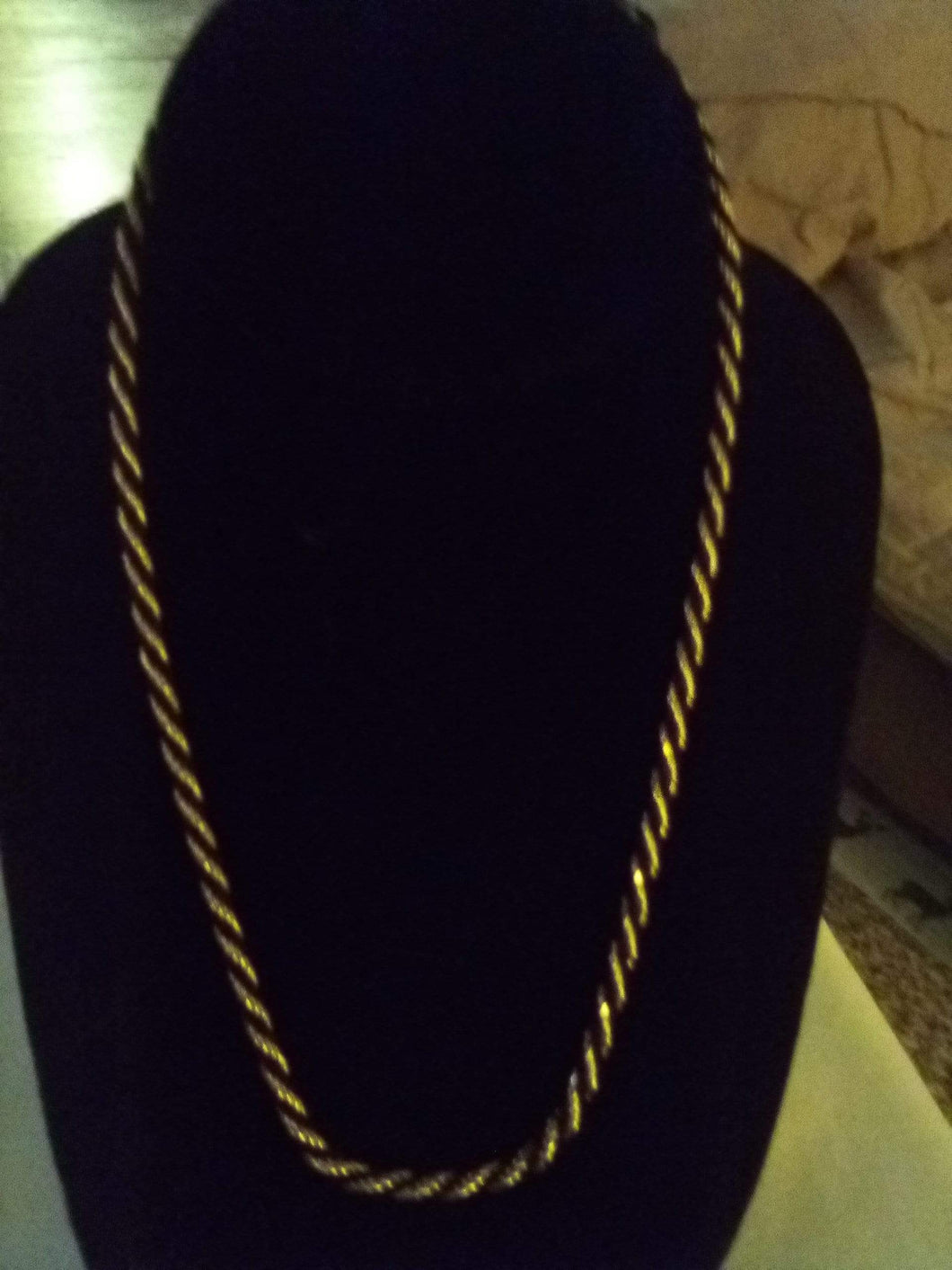 Casual black/gold chain necklace - B&P'sringsnthings