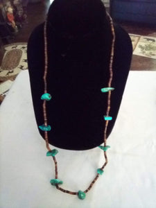 Casual nice necklace with turquoise pieces - B&P'sringsnthings