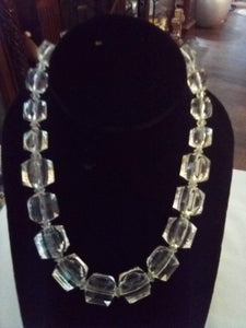 Clear crystal choker necklace - B&P'sringsnthings
