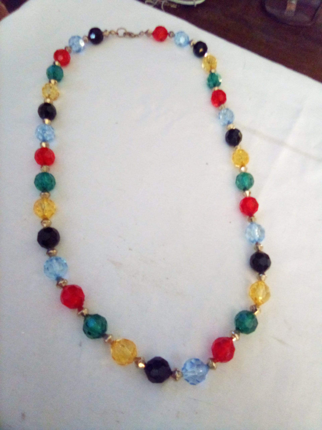 Colorful crystal beaded necklace - B&P'sringsnthings