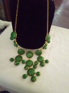 Dark green dressy Necklace - B&P'sringsnthings