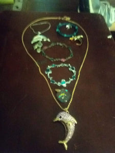 Dolphin designed jewelry lot - B&P'sringsnthings