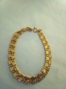 Double link gold tone bracelet - B&P'sringsnthings
