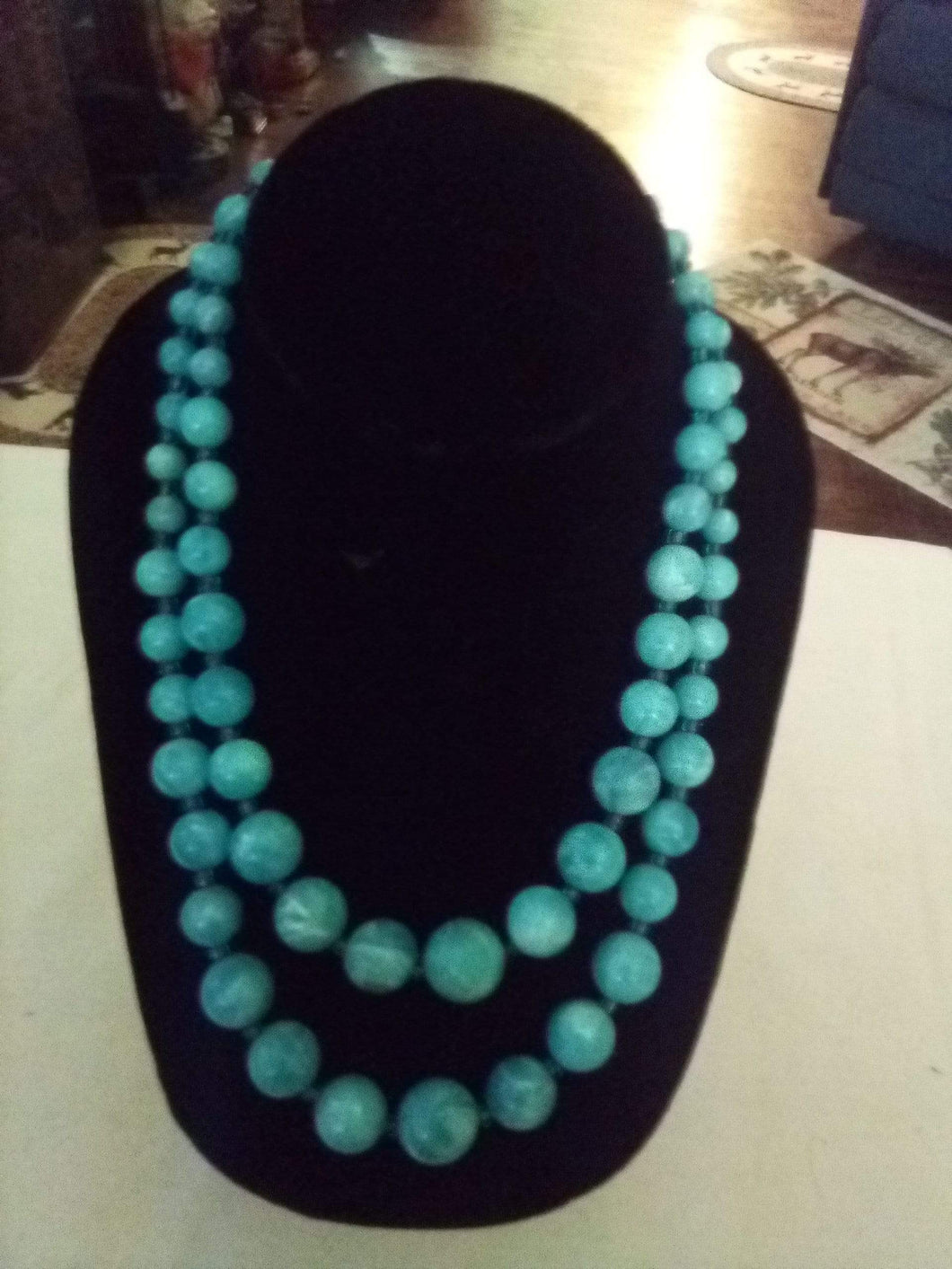 Dressy Light blue 2 tier necklace - B&P'sringsnthings