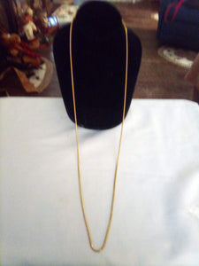 Dressy long gold tone heavy chain - B&P'sringsnthings