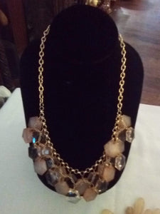 Dressy necklace with attached decor - B&P'sringsnthings