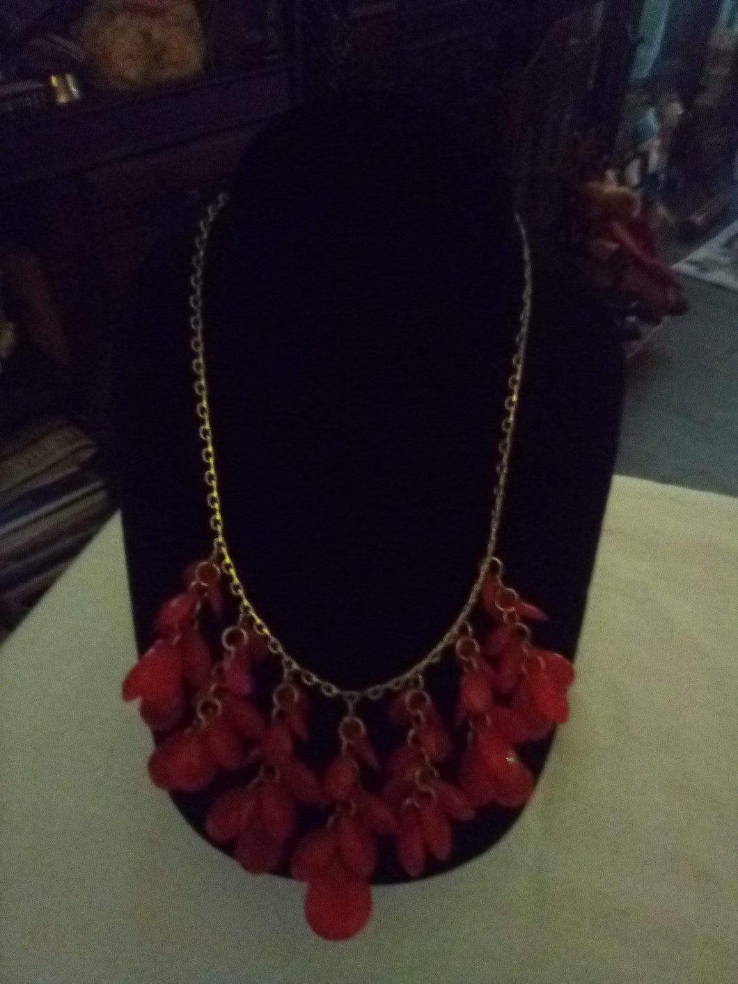 Dressy necklace with colorful decor - B&P'sringsnthings