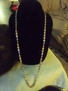 Dressy necklace with crystal beads - B&P'sringsnthings