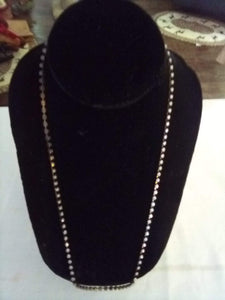 Dressy necklace with small cubic zirconia stones - B&P'sringsnthings