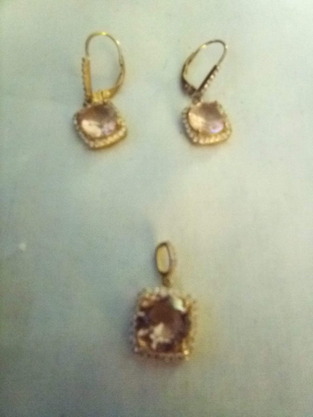 Dressy pendent with matching pair pierced earrings - B&P'sringsnthings