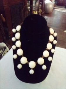 Dressy white necklace - B&P'sringsnthings