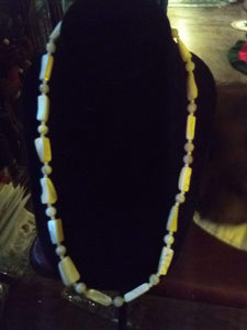 Dressy white stone necklace - B&P'sringsnthings