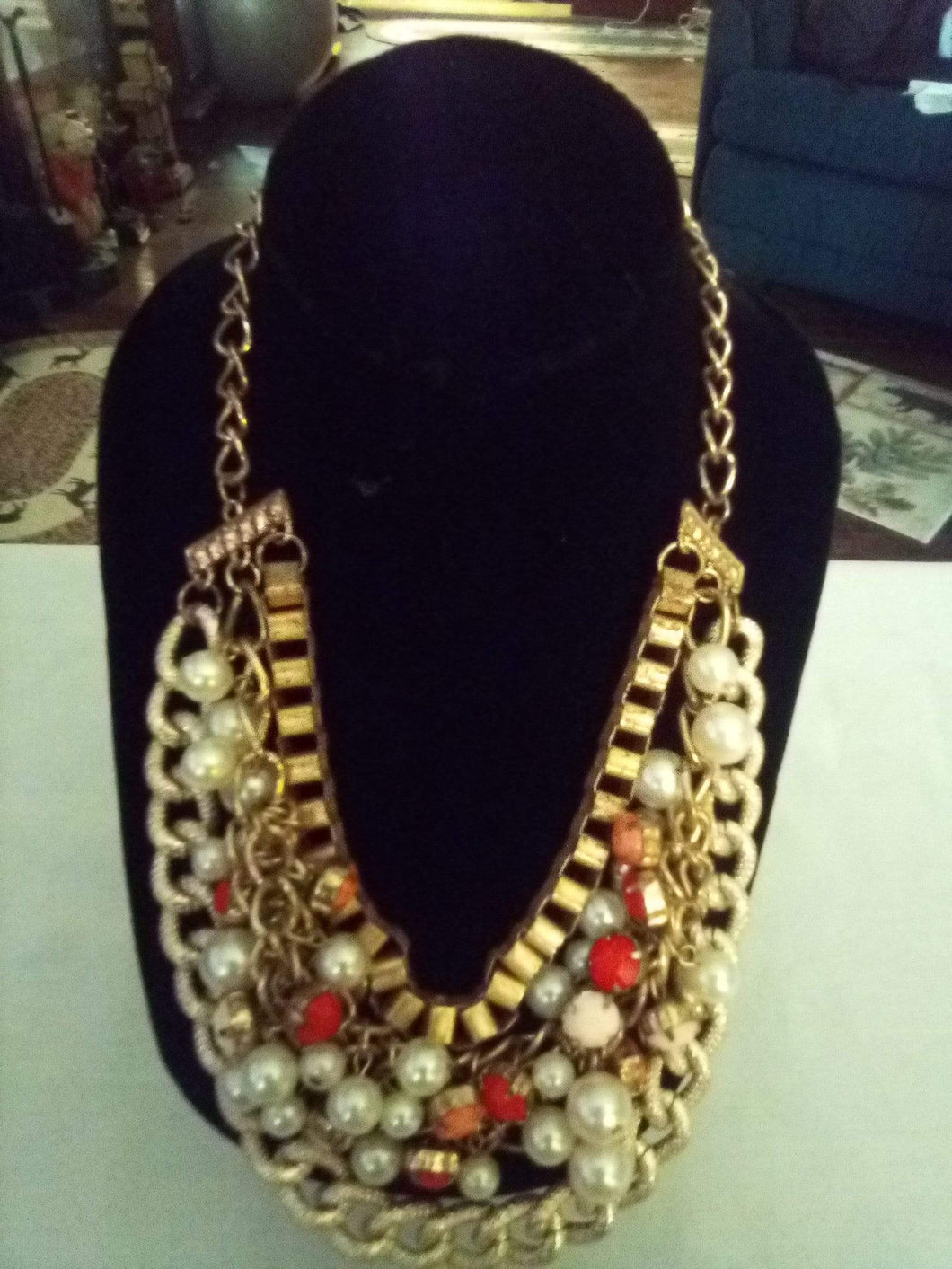 Elegant and nice multi tier necklace - B&P'sringsnthings