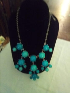 Elegant turquoise blue necklace - B&P'sringsnthings