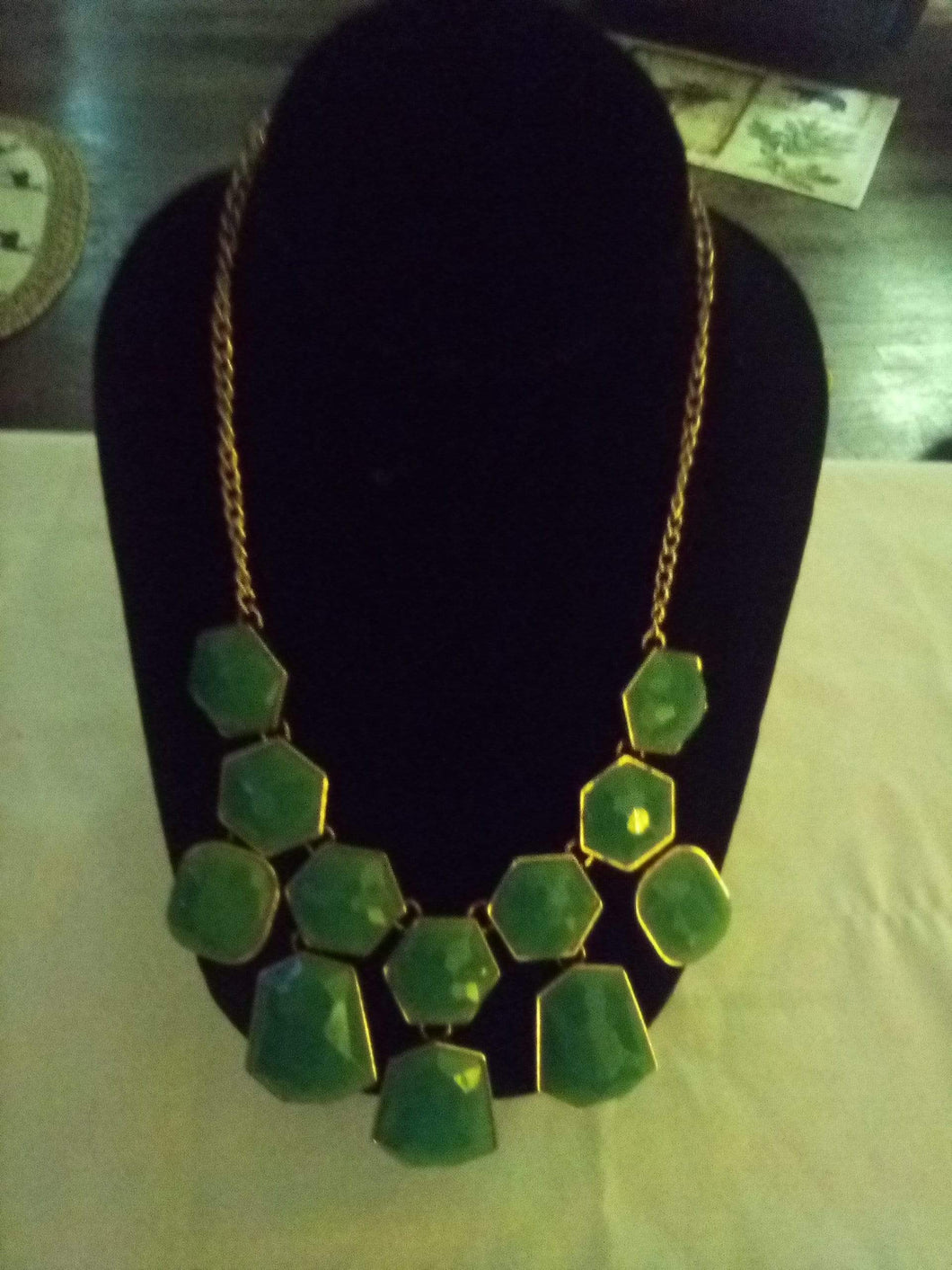 Elegant turquoise colored necklace - B&P'sringsnthings