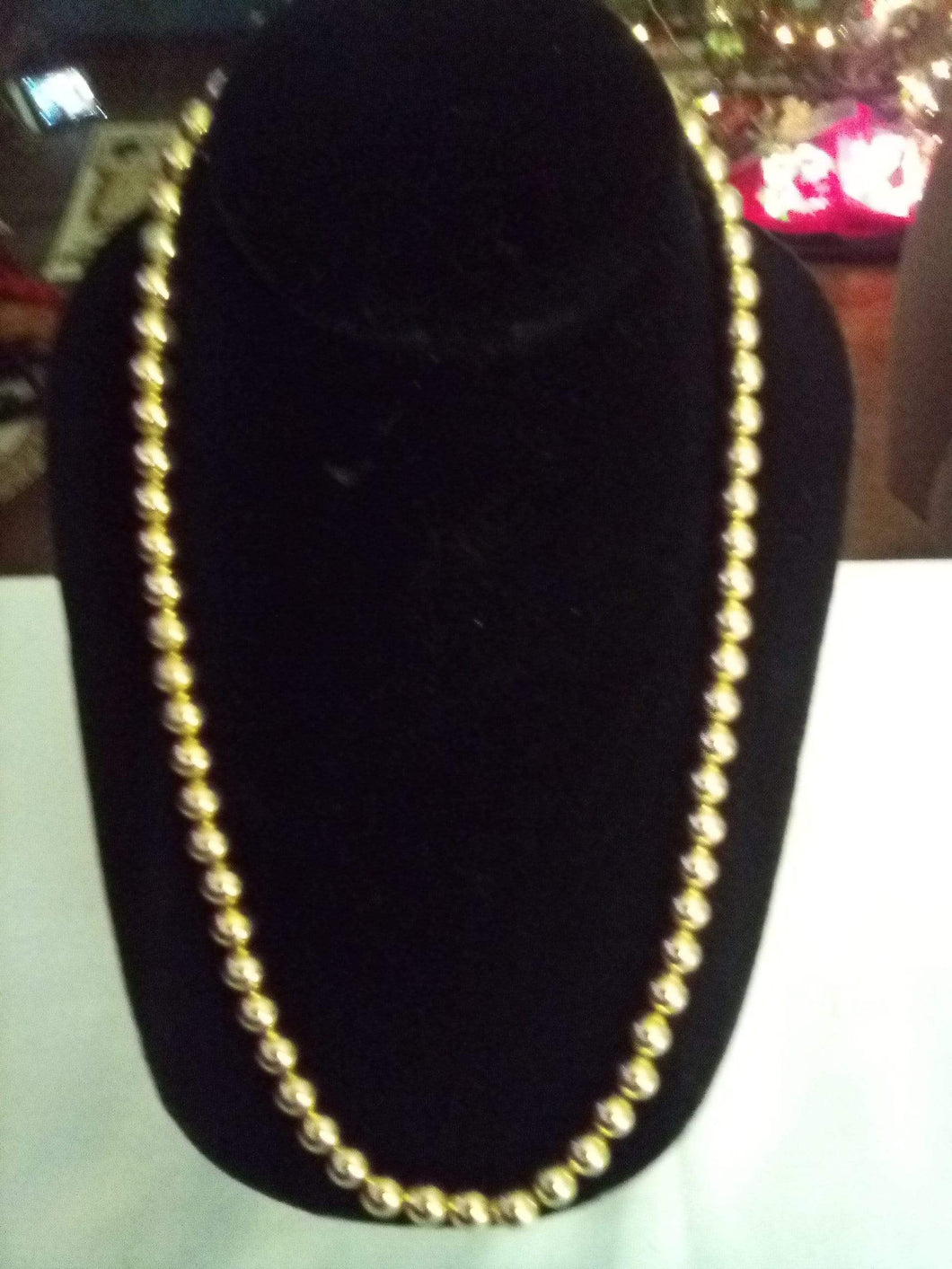 Gold tone beaded necklace - B&P'sringsnthings