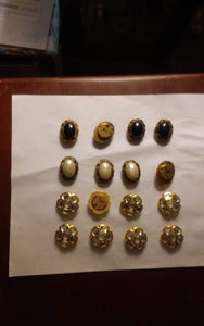 Gold tone button cover lot - B&P'sringsnthings