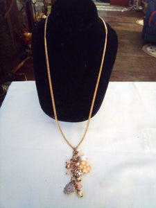 Gold tone long dressy necklace - B&P'sringsnthings