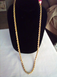 Heavy long gold tone chain necklace - B&P'sringsnthings