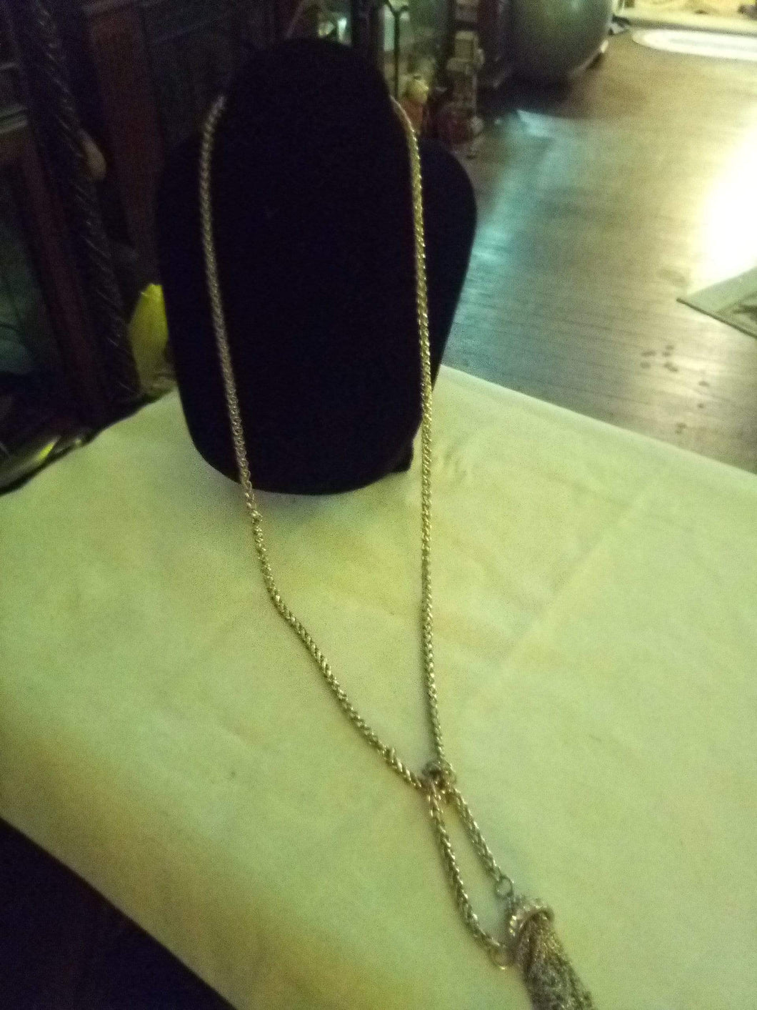 Heavy silver tone long necklace - B&P'sringsnthings