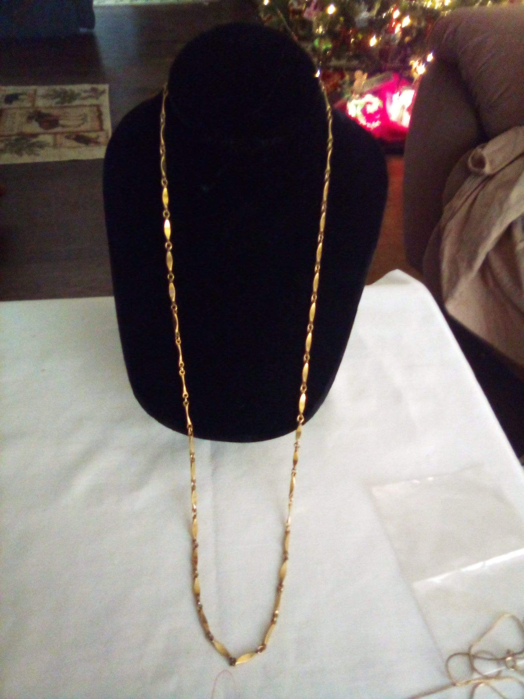 Long decorative chain necklace - B&P'sringsnthings