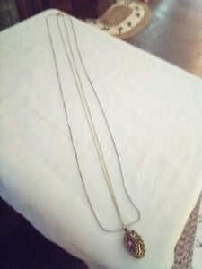 Long double chained necklace with beautiful pendent - B&P'sringsnthings