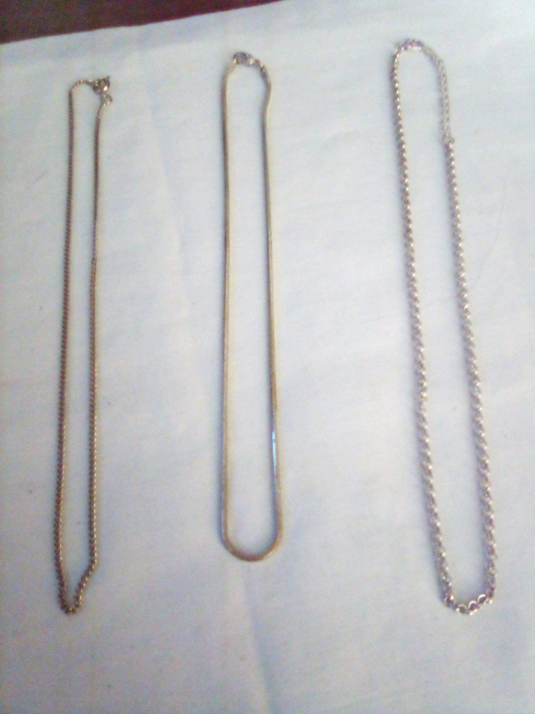Lot of 3 silver tone chains - B&P'sringsnthings