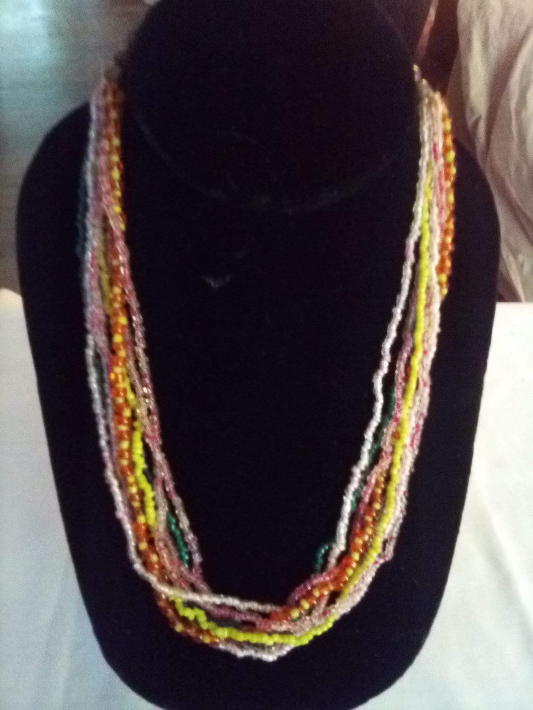 Multi color small beaded necklace - B&P'sringsnthings