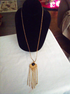 Neat long chained necklace with pendent - B&P'sringsnthings