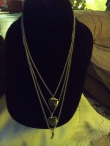 Neat triple tiered necklace with chain - B&P'sringsnthings